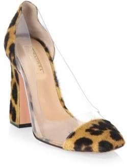 Aquazzura Optic Leopard Calf Hair Pumps