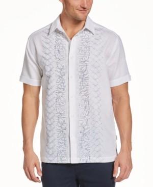 Cubavera Men's Geo Floral Panel Shirt