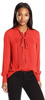 Anne Klein Women's Long Sleeve Bow Blouse