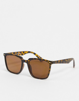 Jeepers Peepers square sunglasses in tort