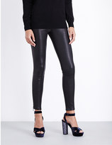 Current/Elliott The Stiletto skinny mid-rise leather jeans