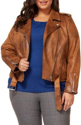 Dex Plus Belted Moto Jacket