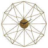 "Lazy Susan 24"" Geometrical Wall Clock Gold"