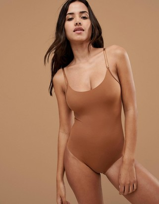 Nubian Skin Naked Collection Nude Bodysuit In Medium