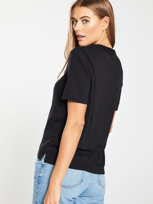 Whistles Rosa Double Trim T-Shirt - Black