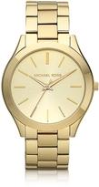 Michael Kors Runway Slim Gold Tone Watch