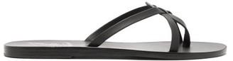 Ancient Greek Sandals Orea Matte-leather Slides - Womens - Black