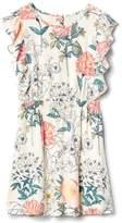 Gap Floral Cascade Ruffle Dress
