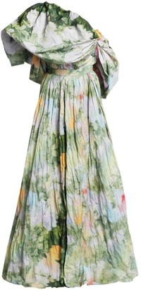Rosie Assoulin Show Me The Monet One-Shoulder Gown