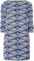 Dorothy Perkins Cobalt Shell Print Swing Dress