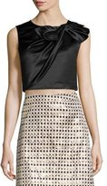 Erin Fetherston Beau Twisted Bow Crop Top