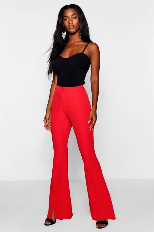 41b5eff4620e boohoo Red Women's Wide Leg Pants on Sale - ShopStyle
