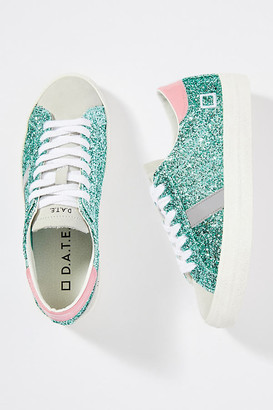 D.A.T.E Hill Glitter Low-Top Sneakers By in Green Size 36