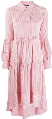 Elisabetta Franchi Striped Print Shirt Dress