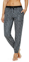 DKNY Geometric Microfleece Jogger Sleep Pants
