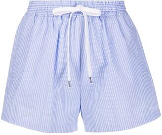 No.21 Pinstripe shorts