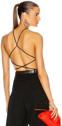 Bottega Veneta Sleeveless Bodysuit in Chocolate | FWRD