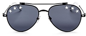 Givenchy Men's Embellished Aviator Sunglasses, 58mm