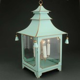 The Well Appointed House Large Parisian Blue Pagoda Lantern- CURRENTLY ON BACKORDER -