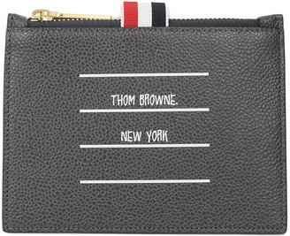 Thom Browne Grey Coin Pouch