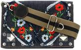 Sonia Rykiel Le Niki embroidered denim bag
