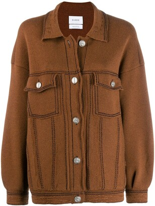 Barrie Contrast Stitch Knitted Jacket