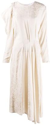 IRO Leopard-Jacquard Midi Dress