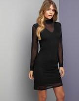 Vero Moda Mesh Sleeve Bodycon Dress