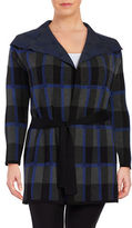 Context Plus Foldover Lapel Checkered Jacket