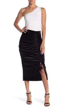 Rebecca Minkoff Romy Velvet Drawstring Skirt