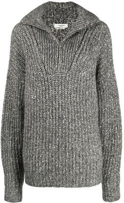 Etoile Isabel Marant Chunky Knit Zipped Jumper