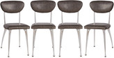 Rejuvenation Set of Shelby Williams Gazelle Dining Chairs w/ Leather Seats