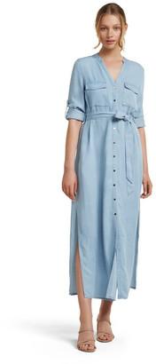 Forever New Belle Denim Maxi Shirt Dress