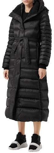 Burberry Single-Breasted Belted Puffer Coat