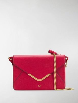 Anya Hindmarch Postbox wallet on chain