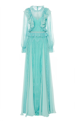 ZUHAIR MURAD Andalusia Ruffle-Trimmed Tulle Gown
