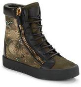 Giuseppe Zanotti Dragon Embroidered Boots
