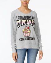Rampage Juniors' Cupcakes Graphic Sweatshirt