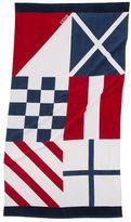 Izod Nautical Flags Beach Towel