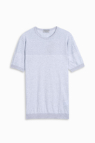 John Smedley Crew Neck Stripe T-Shirt