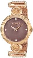 Versus By Versace Versus Versace Women's 'Sunnyridge' Quartz Stainless Steel Casual Watch, Color:Gold-Toned (Model: SOL130016)