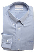 Roundtree & Yorke Gold Label Non-Iron Fitted Classic-Fit Button-Down Collar Solid Dress Shirt