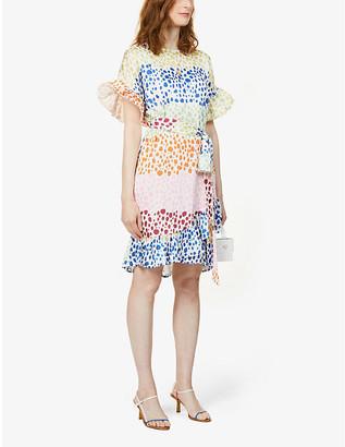 NEVER FULLY DRESSED Marakesh leopard-print crepe midi dress