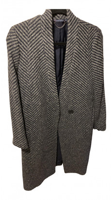 Jigsaw Anthracite Wool Coats