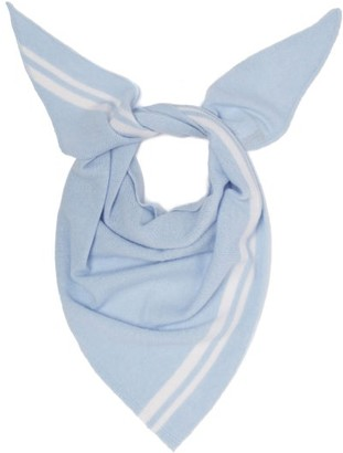 Allude Triangle Knitted-cashmere Scarf - Womens - Light Blue