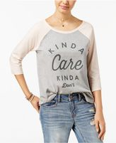 Hybrid Juniors' Kinda Care Graphic T-Shirt