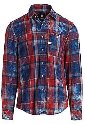 G Star Men's Faded Flannel Check Shirt