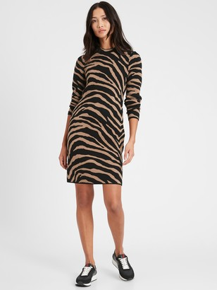 Banana Republic Zebra Sweater Dress