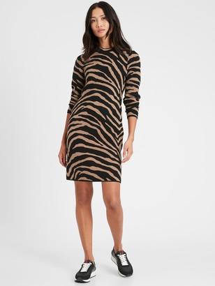 Banana Republic Zebra Sweater Dress