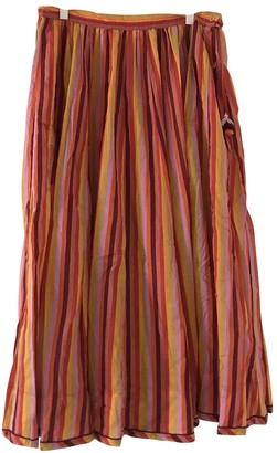 Zimmermann Orange Cotton Skirt for Women
